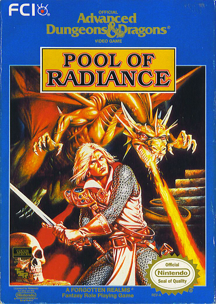 Pool of Radiance NES Front Cover