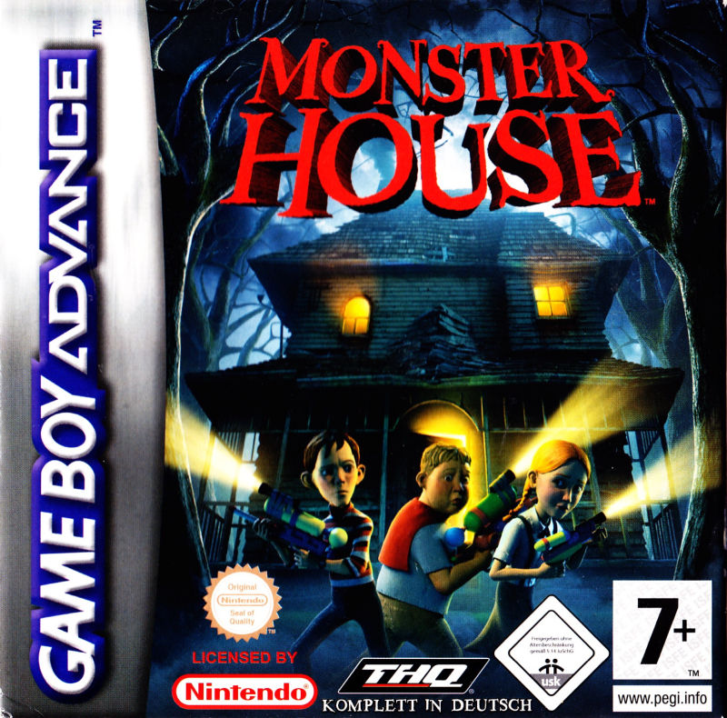 Monster House Game Boy Advance Front Cover