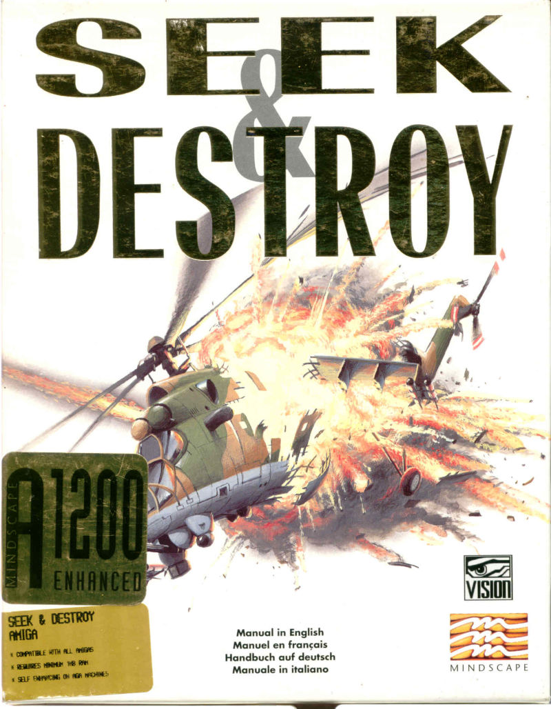 Seek and Destroy Amiga Front Cover