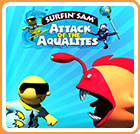 Surfin' Sam: Attack of the Aqualites Wii U Front Cover