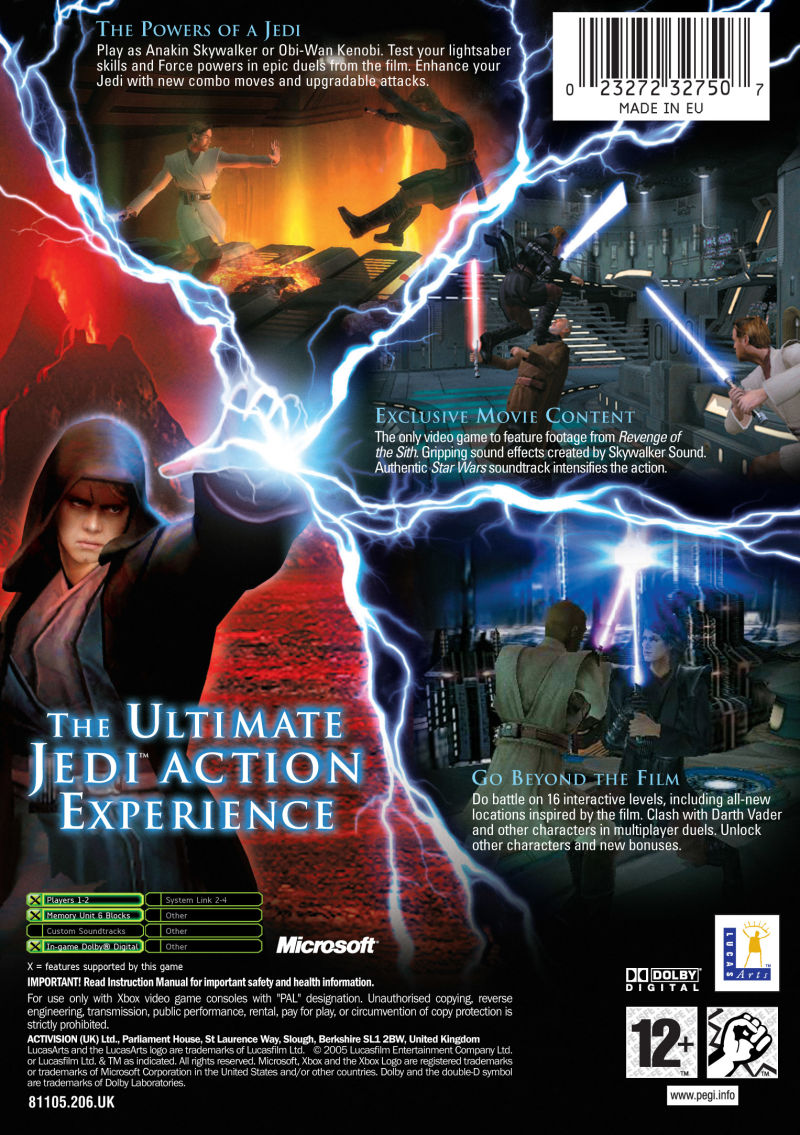 Star Wars: Episode III - Revenge of the Sith (2005) Xbox ...