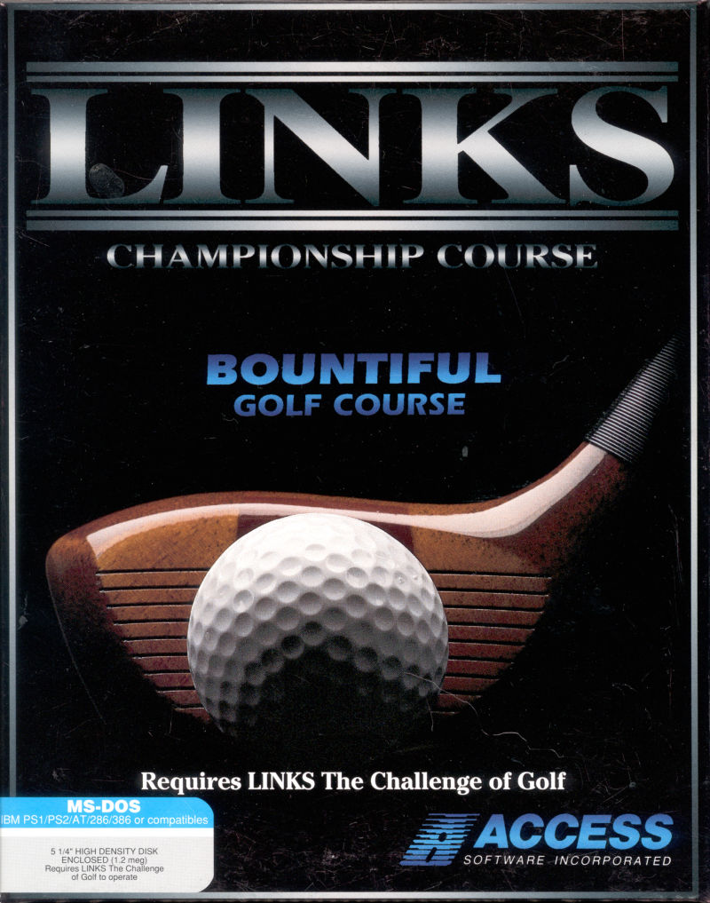 Links: Championship Course - Bountiful Golf Course DOS Front Cover