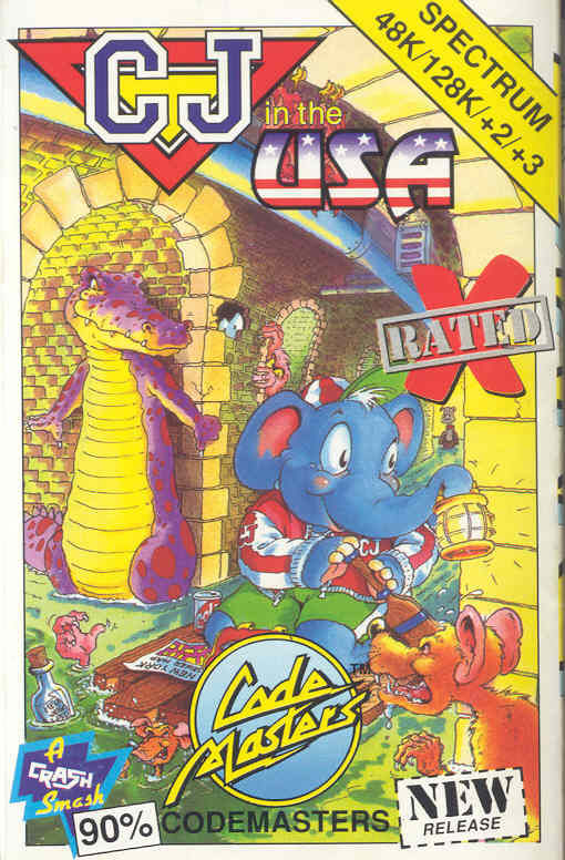 CJ in the USA ZX Spectrum Front Cover