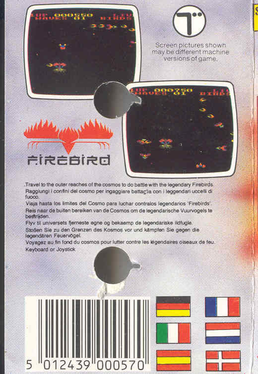Star Firebirds ZX Spectrum Back Cover