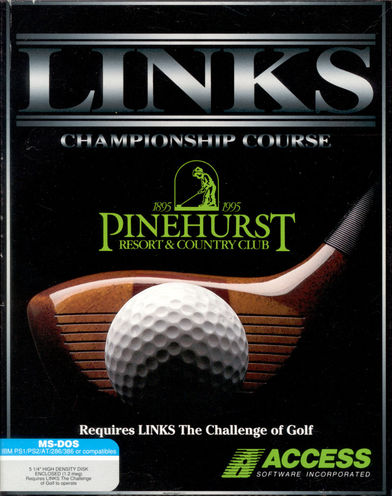 Links: Championship Course - Pinehurst Resort & Country Club DOS Front Cover