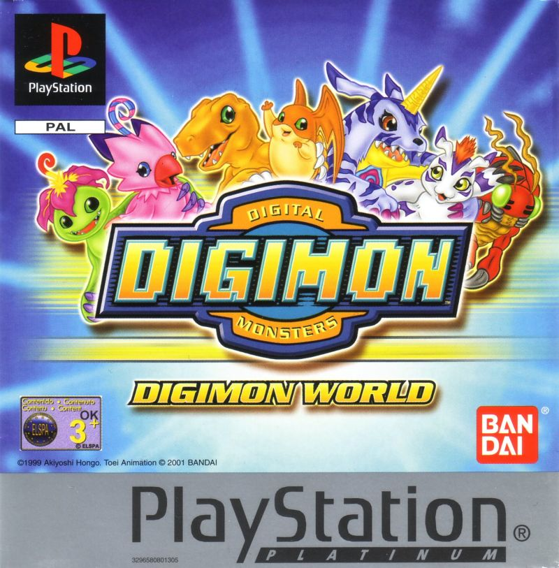 Digimon World PlayStation Front Cover