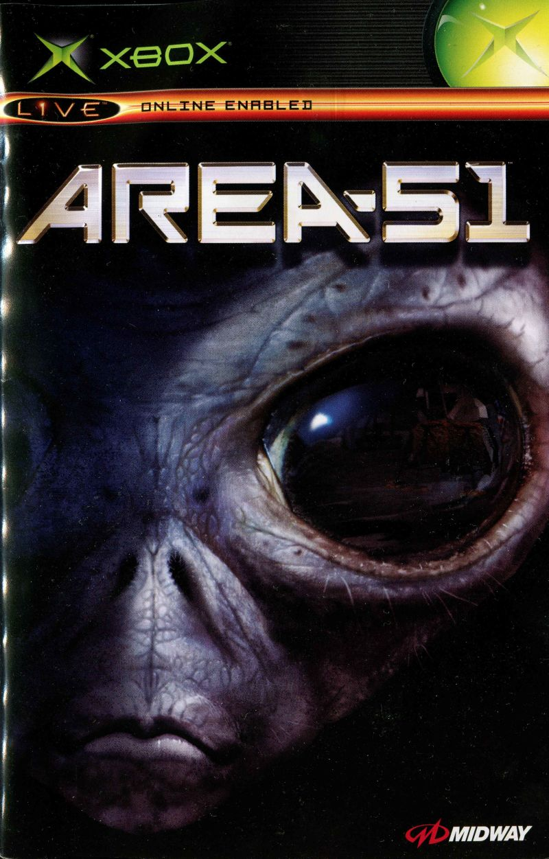 Area-51 Xbox Manual Front