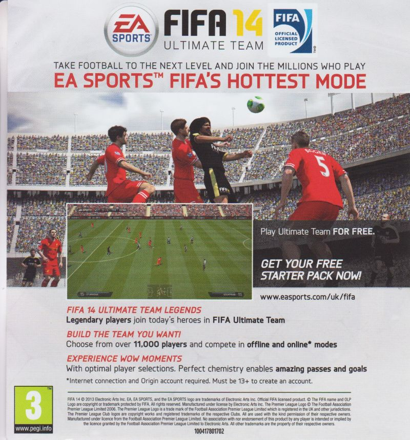 FIFA 14 (2013) Xbox One box cover art - MobyGames