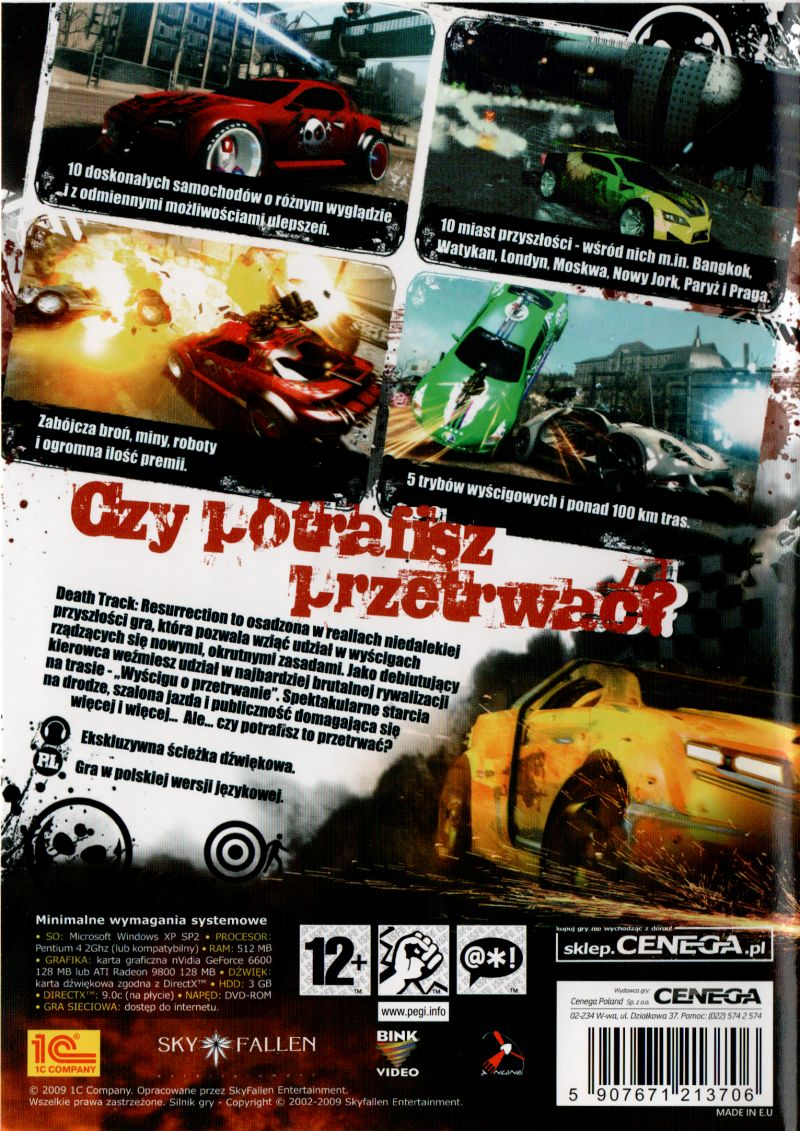 Death Track Resurrection 2010 Playstation 3 Box Cover Art Mobygames
