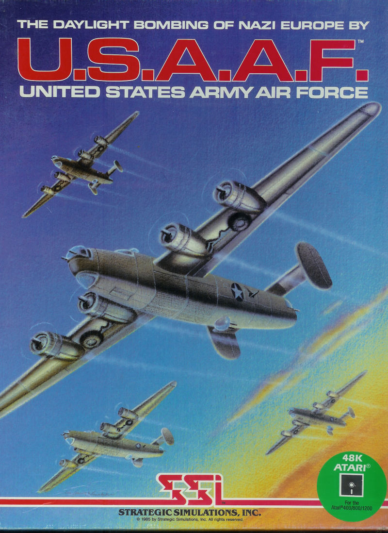 U.S.A.A.F. - United States Army Air Force Atari 8-bit Front Cover