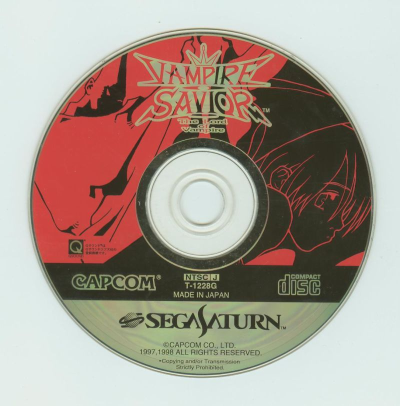Darkstalkers 3 SEGA Saturn Media