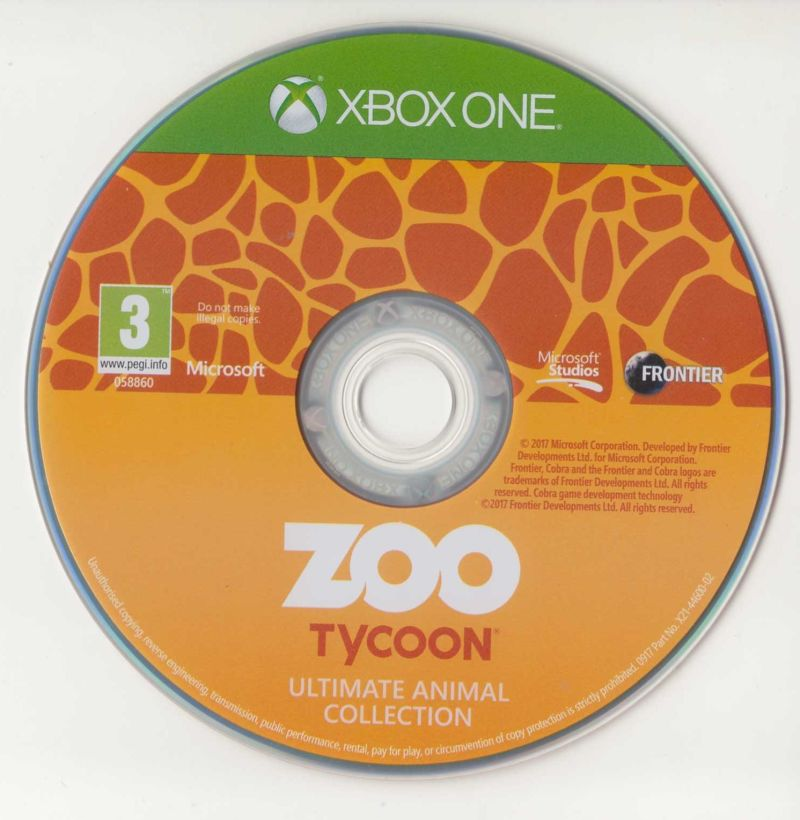 Zoo Tycoon: Ultimate Animal Collection (2017) Xbox One box cover art