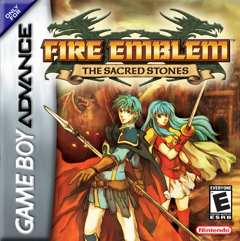 Fire Emblem: The Sacred Stones Game Boy Advance Front Cover