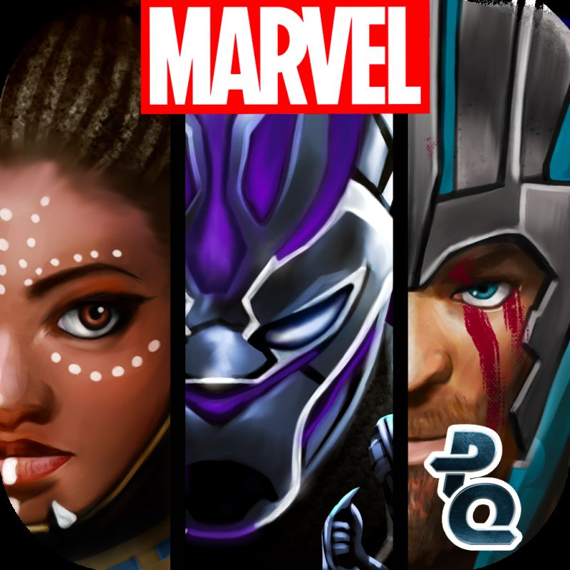 Marvel Puzzle Quest iPad Front Cover R146 Black Panther