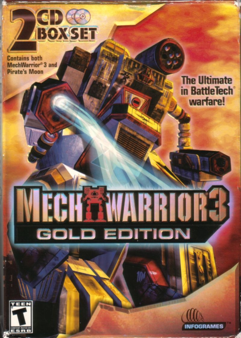 MechWarrior 3: Gold Edition (2002) Windows box cover art
