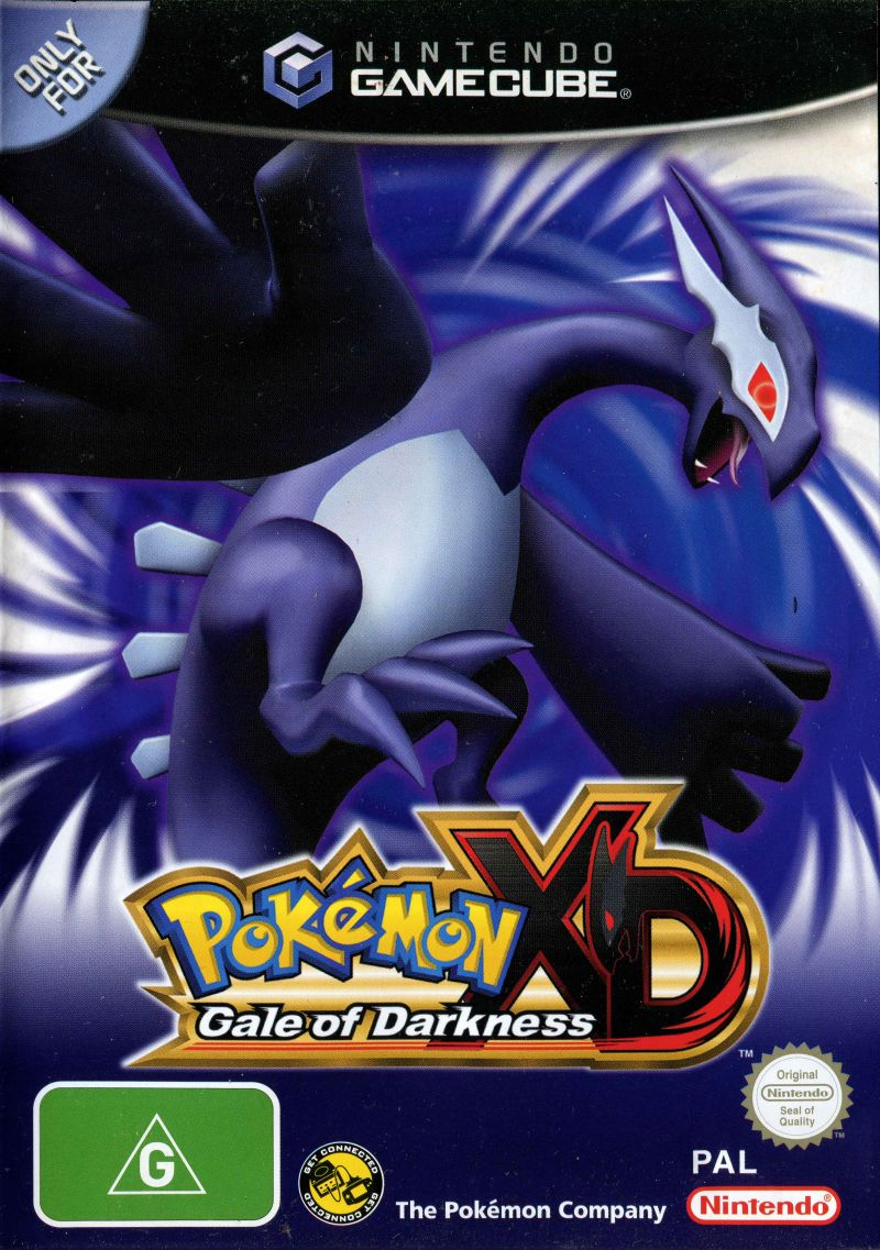 Pok mon xd gale of darkness 2005 gamecube box cover art mobygames - Gamecube pokemon xd console ...