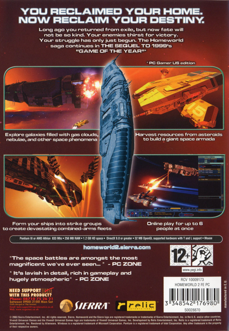 Homeworld 2 Windows Back Cover