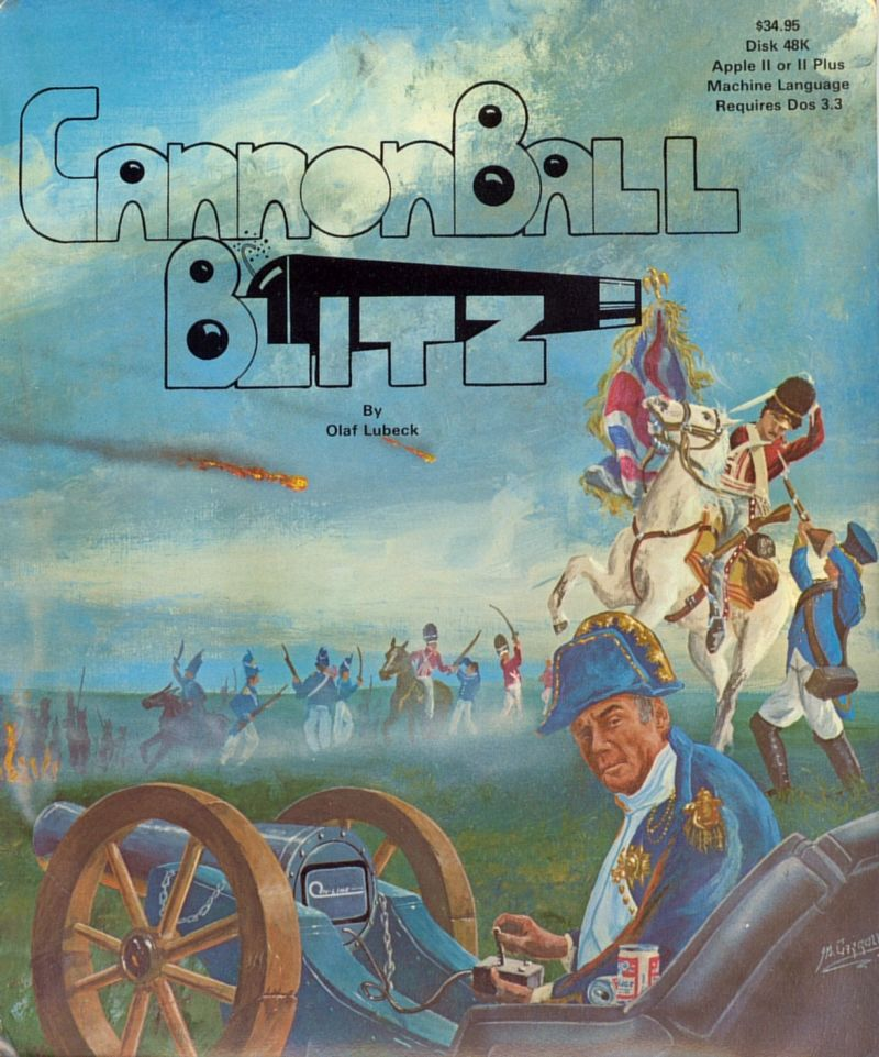 Cannonball Blitz Apple II Front Cover