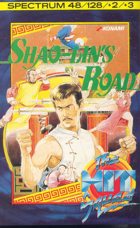 Shao Lin's Road ZX Spectrum Front Cover