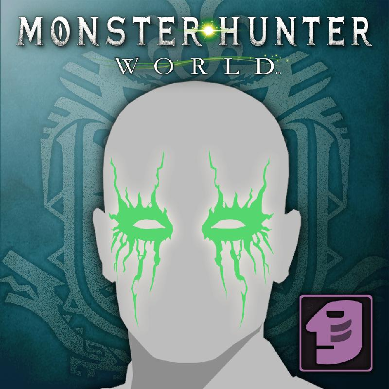 monster hunter world face paint eye shadow 2018 playstation 4
