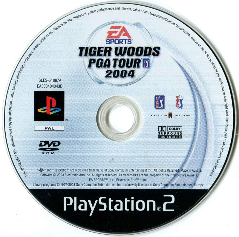 Tiger Woods PGA Tour 2004 (2003) GameCube box cover art