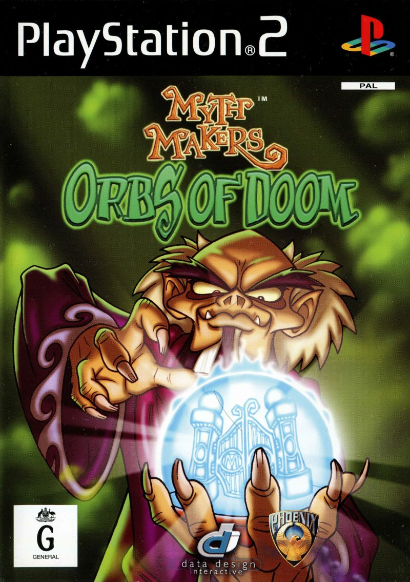 Myth Makers: Orbs of Doom PlayStation 2 Front Cover