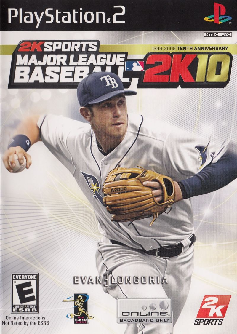 Major League Baseball 2K10 PlayStation 2 Front Cover