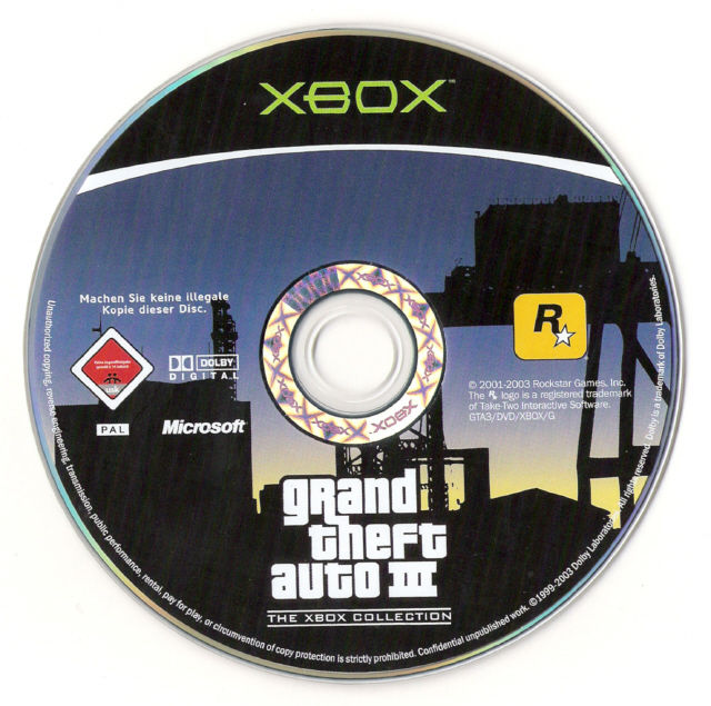 Rockstar Games Double Pack: Grand Theft Auto Xbox Media GTA III