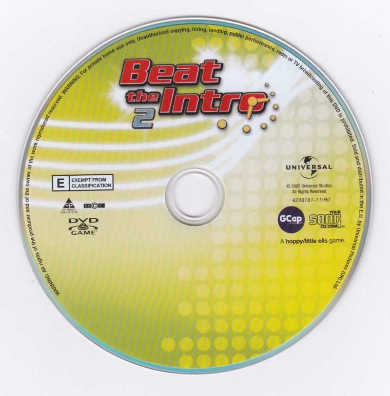 Beat the Intro 2 (2005) DVD Player box cover art - MobyGames