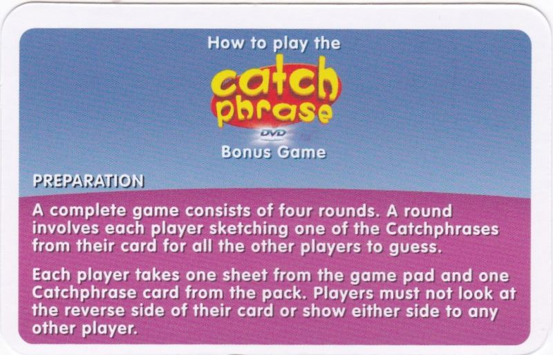 Catchphrase 2005 Dvd Player Box Cover Art Mobygames