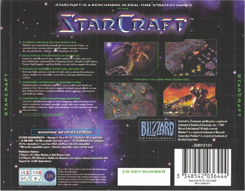 StarCraft (Collector's Edition) (1998) Windows box cover art - MobyGames