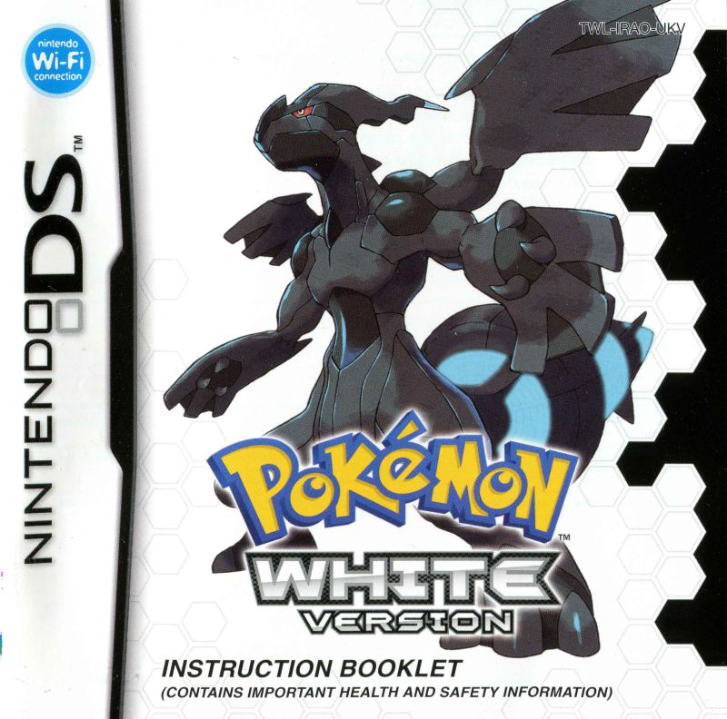 pok mon white version 2010 nintendo ds box cover art mobygames rh mobygames com Pokemon Black and White Coloring Black and White Pokemon Starters