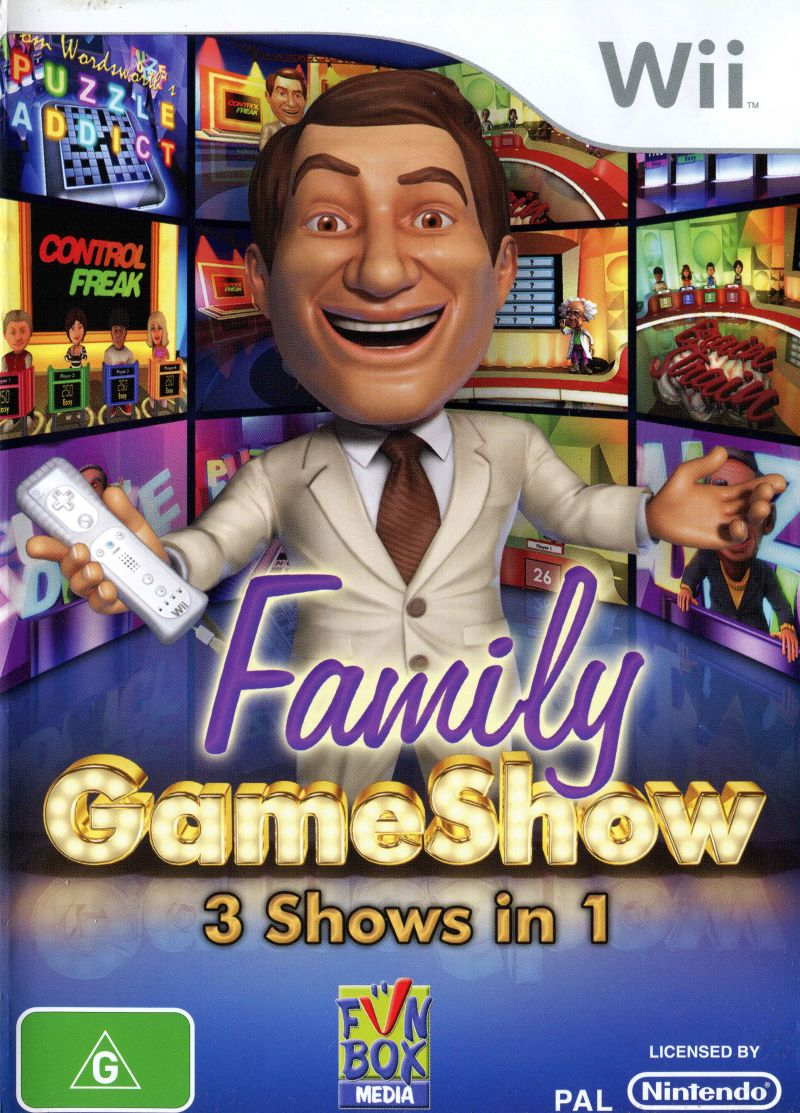 Family Gameshow Wii Front Cover