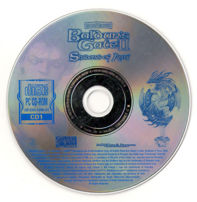 Baldur's Gate II: Shadows of Amn Windows Media Disc 1