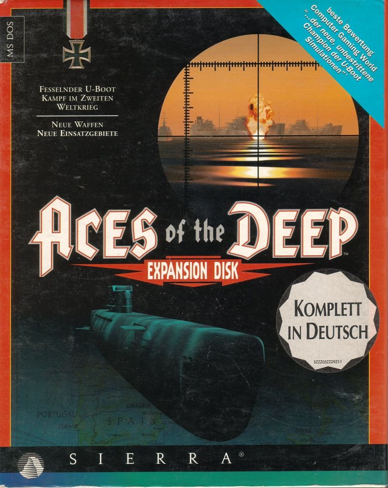 Aces of the Deep: Expansion Disk DOS Front Cover