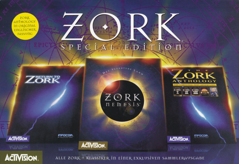 The Zork Legacy Collection DOS Front Cover