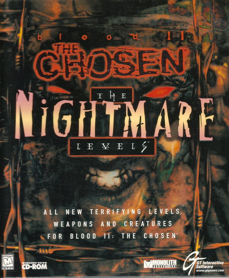 Blood II: The Chosen - The Nightmare Levels Windows Front Cover