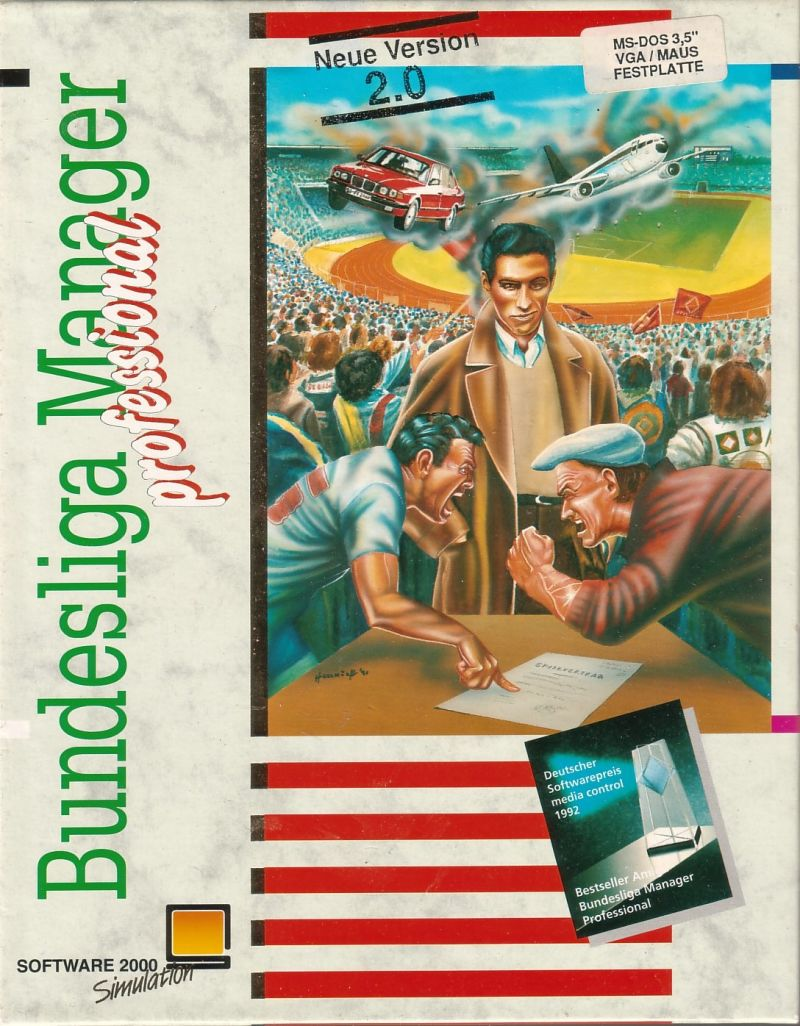 Bundesliga Manager Professional DOS Front Cover
