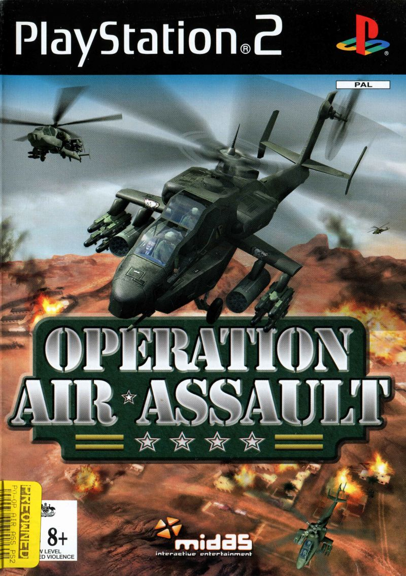 AH-64 Apache Air Assault PlayStation 2 Front Cover
