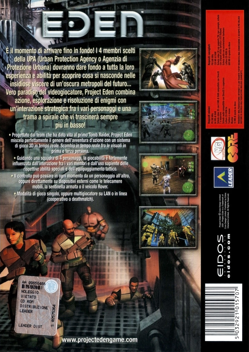 Project Eden 2001 Playstation 2 Box Cover Art Mobygames