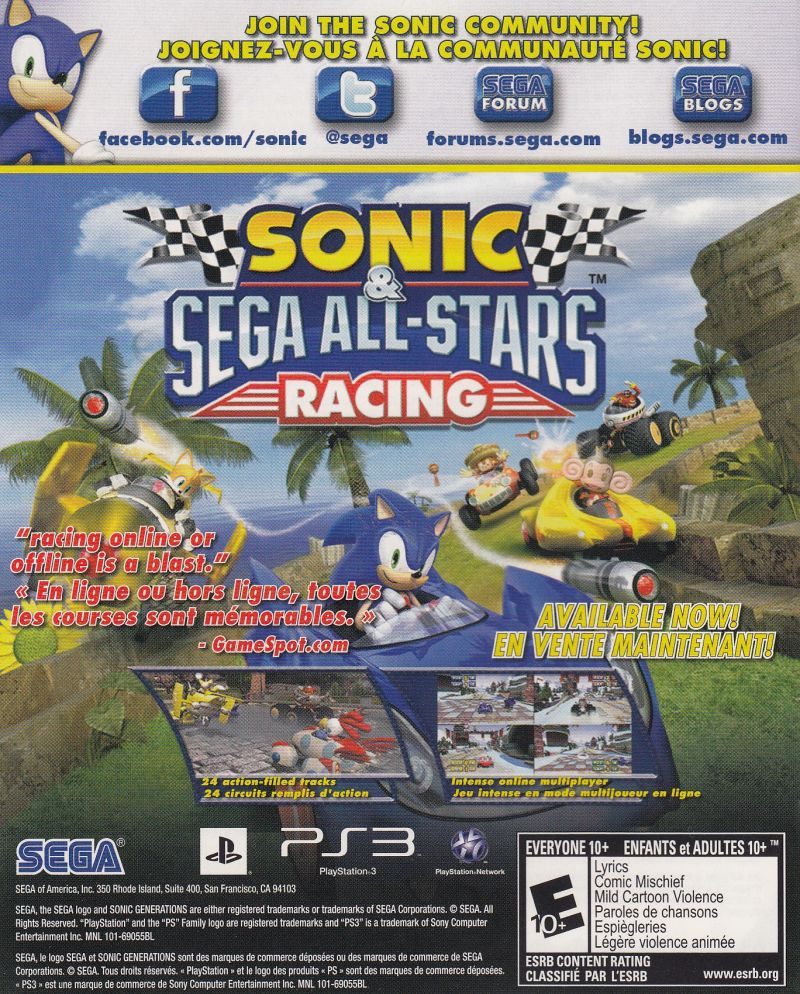 sonic generations 2011 playstation 3 box cover art mobygames rh mobygames com Sonic Eggman Sonic Eggman
