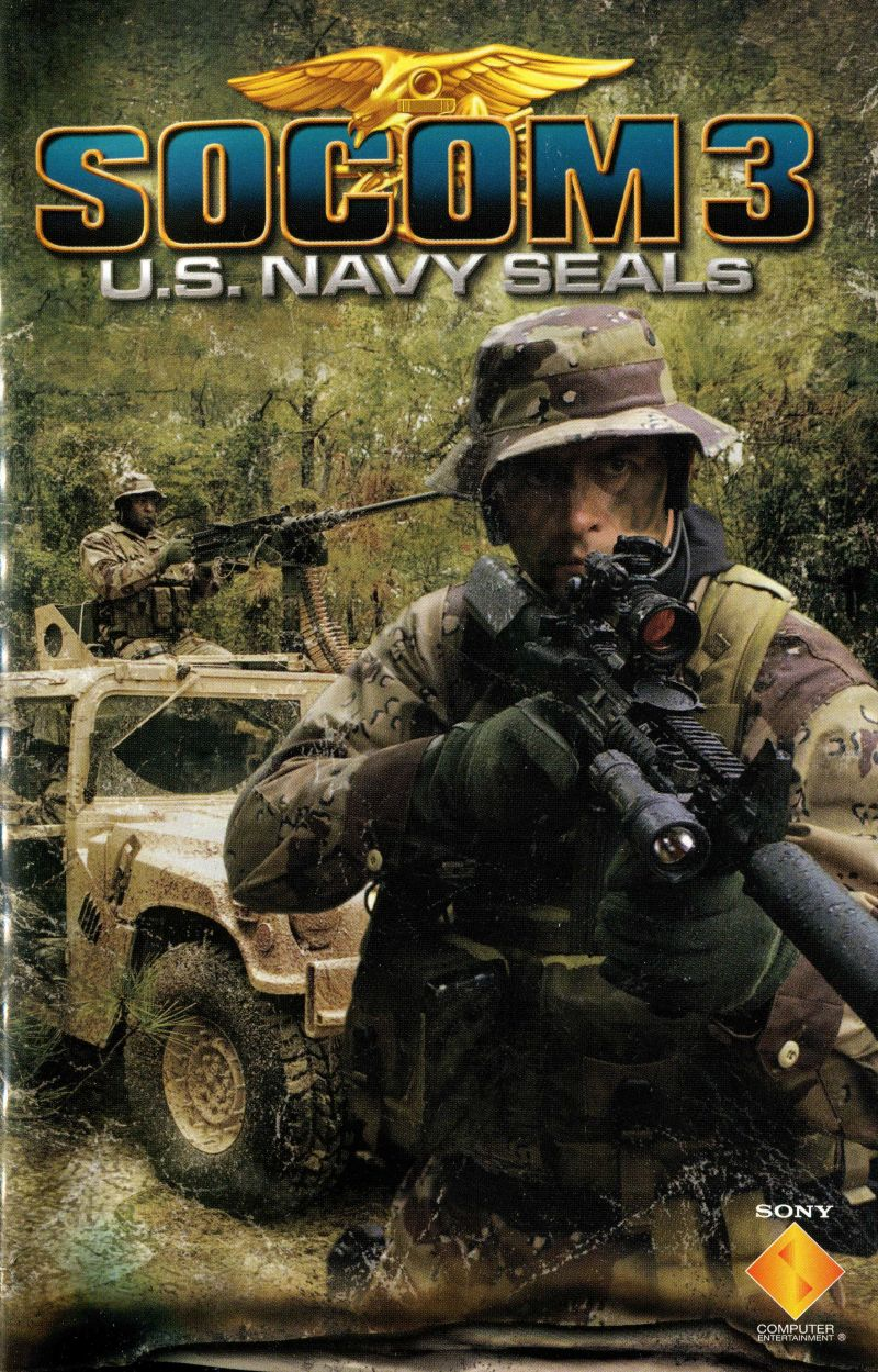 SOCOM 3: U S  Navy SEALs (2005) PlayStation 2 box cover art
