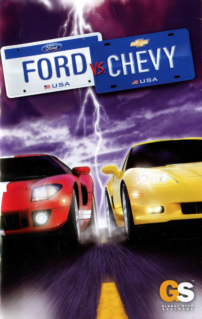 Ford Vs  Chevy (2005) PlayStation 2 box cover art - MobyGames