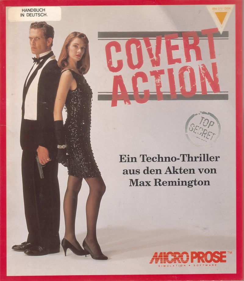 Sid Meier's Covert Action DOS Front Cover