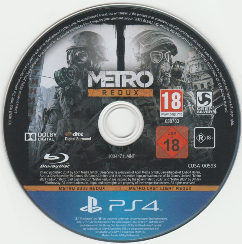 Metro: Redux PlayStation 4 Media