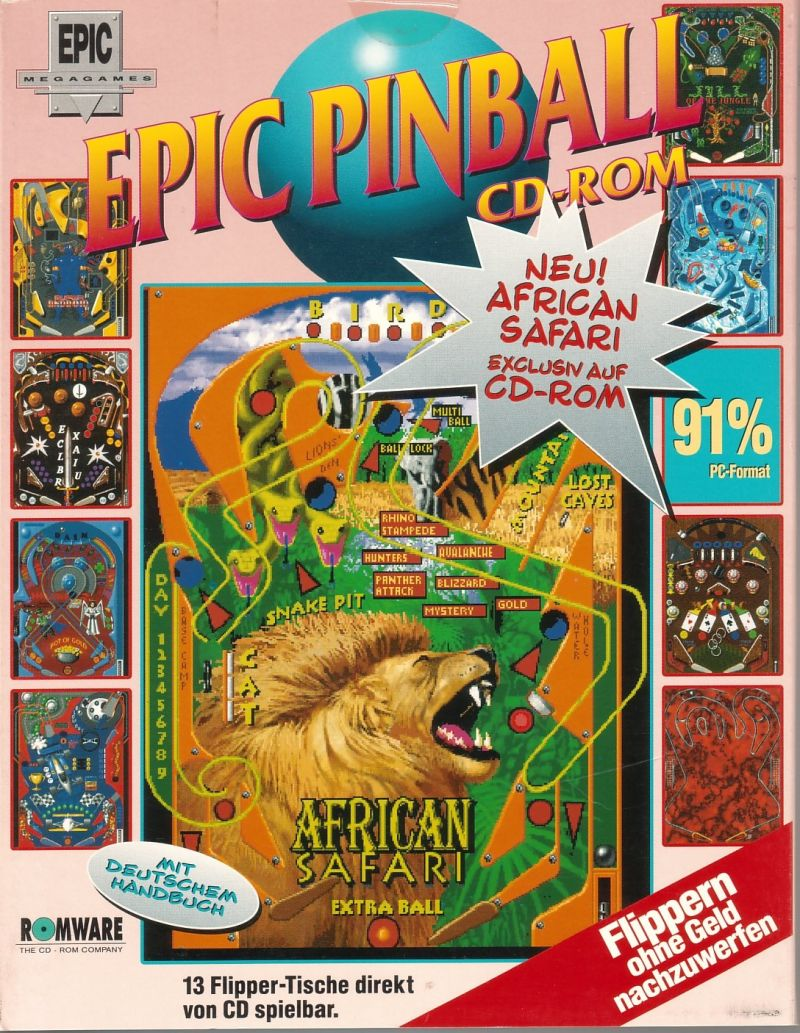 Epic Pinball: The Complete Collection DOS Front Cover