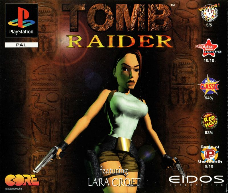 Tomb Raider 1996 Playstation Box Cover Art Mobygames