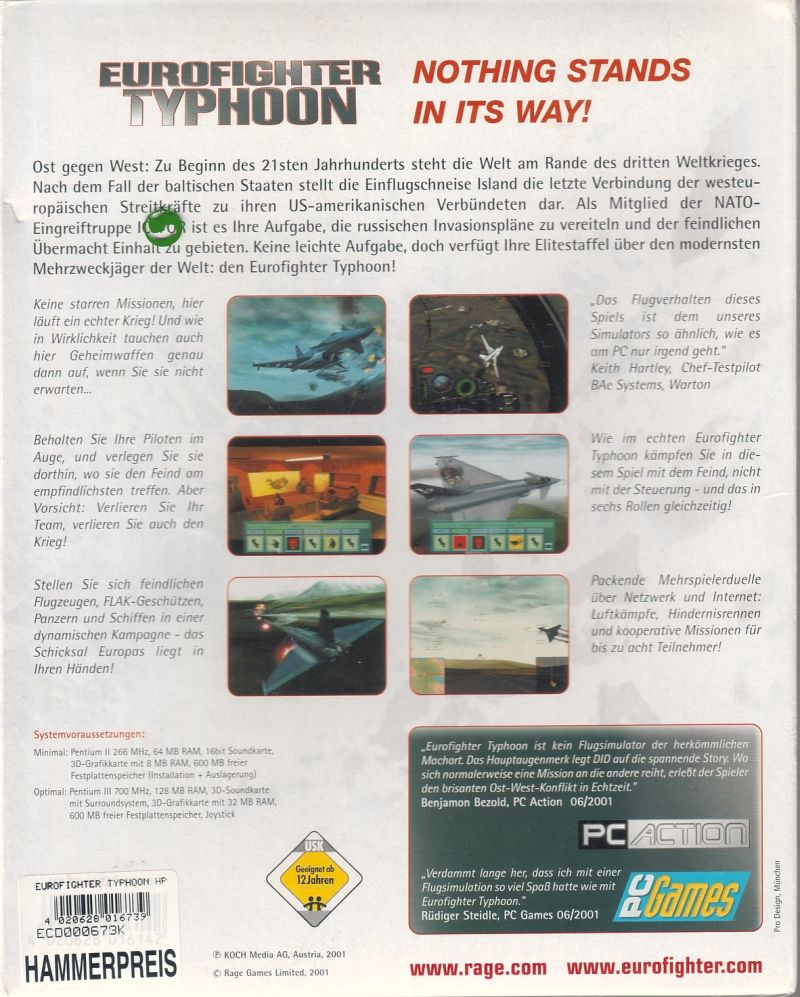 Eurofighter Typhoon Windows Back Cover