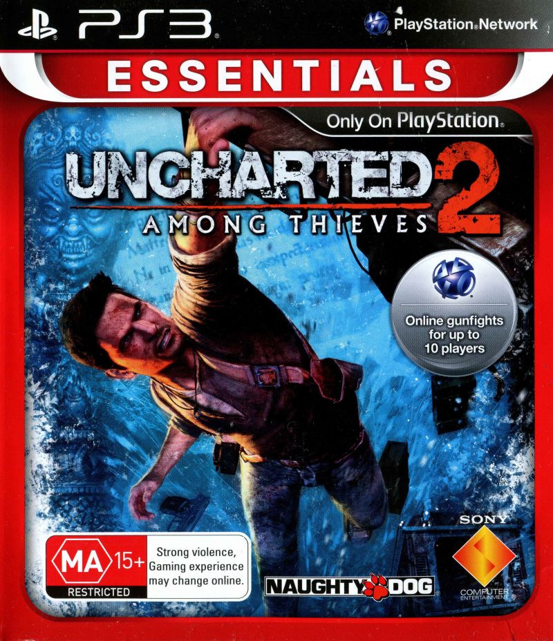 Uncharted 2: Among Thieves (2009) PlayStation 3 box cover ...Uncharted 2 Among Thieves Cover