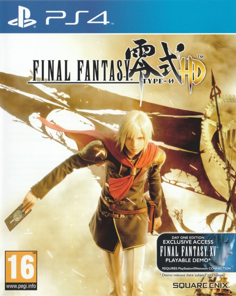 A pair of final fantasy type-0 hd boxarts for the west nova.